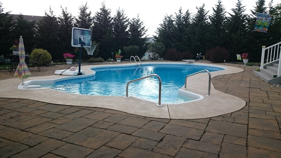 Above ground pools best swimming pools in new jersey for Above ground pool decks nj