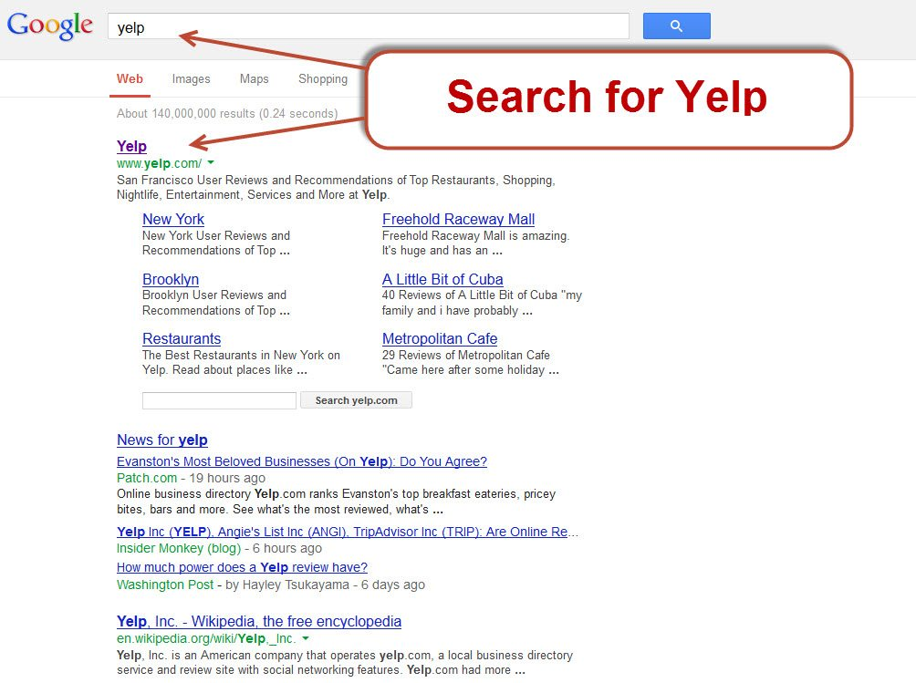how to create a yelp account