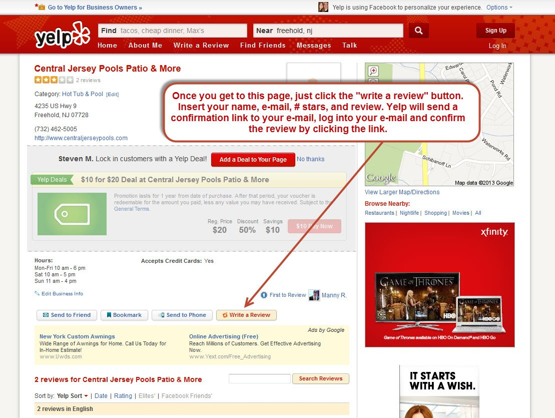 how to write central jersey pools yelp review l yelp