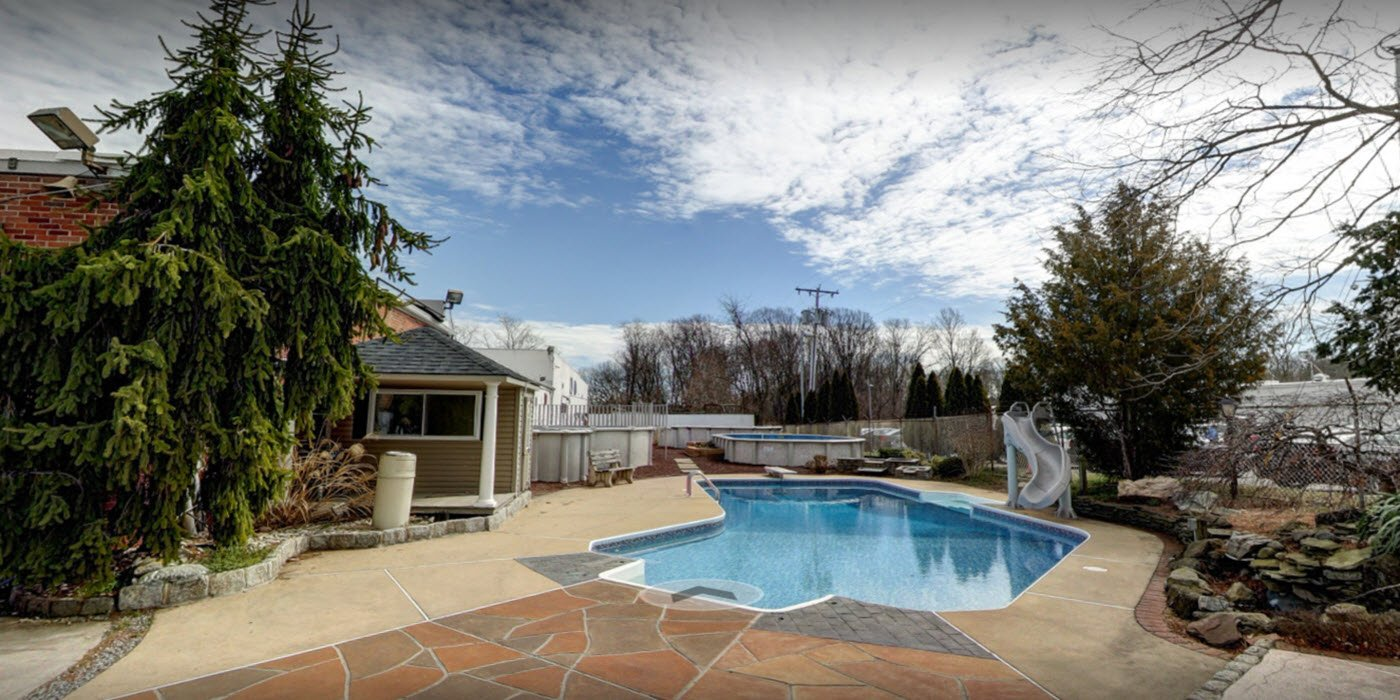 Above ground pools nj used swimming pools discount for Above ground pool decks nj