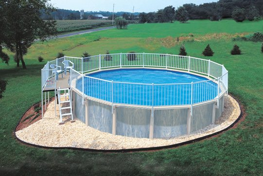 Above Ground Pools With Decks And Fences